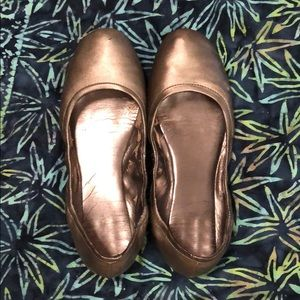 NineWest silver flats size 8m